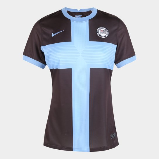 Camisa Corinthians III 20/21 s/n° Torcedor Nike Feminina - Marrom+Azul