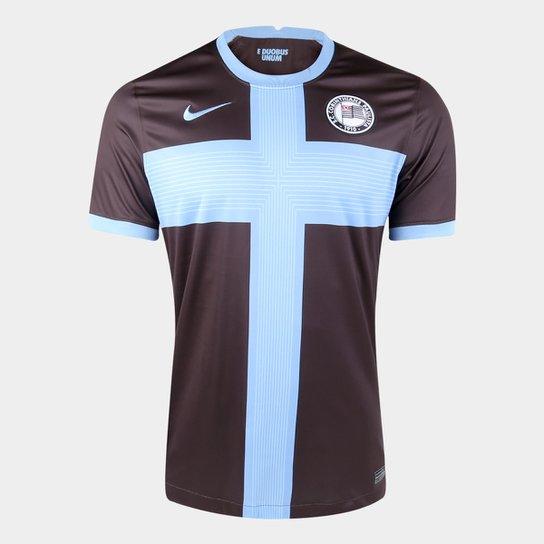 Camisa Corinthians III 20/21 s/n° Torcedor Nike Masculina - Marrom+Azul