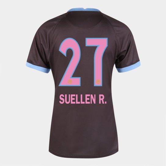 Camisa Corinthians III 20/21  Suellen R.  N° 27 Torcedor Nike Feminina - Marrom+Azul