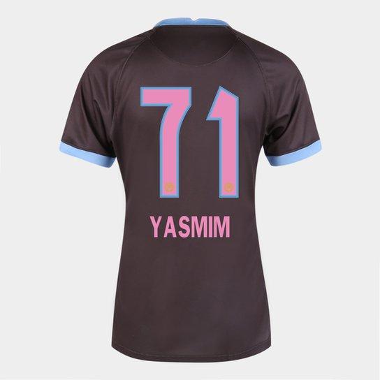 Camisa Corinthians III 20/21  Yasmim N° 71   Torcedor Nike Feminina - Marrom+Azul