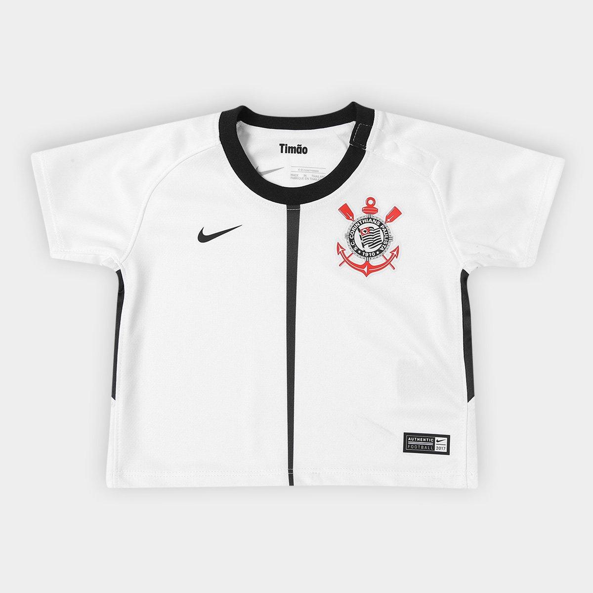 f55a8136bc Camisa Corinthians Infantil I 17 18 s nº Baby Torcedor Nike - Compre ...