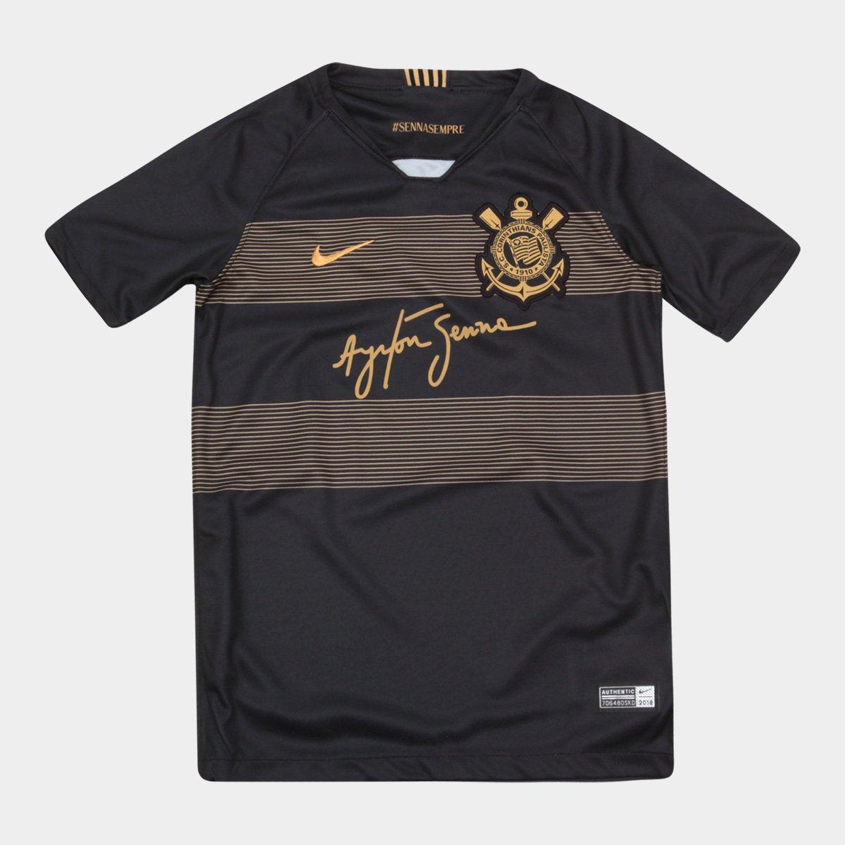 95ec440e2696d Camisa Corinthians Infantil III 2018 s n° - Torcedor Nike - Preto e Dourado  - Compre Agora