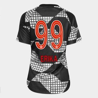 Camisa Corinthians IV 20/21 Erika Nº 99 Nike Feminina