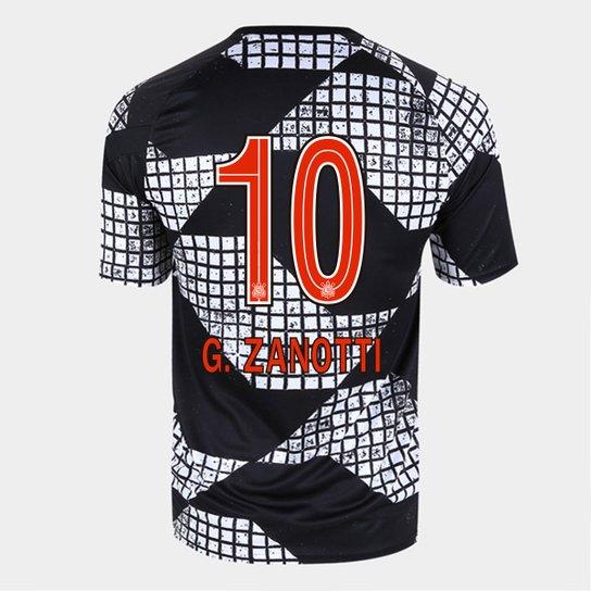 Camisa Corinthians IV 20/21 G. Zanotti N°10 Nike Masculina - Preto+Branco
