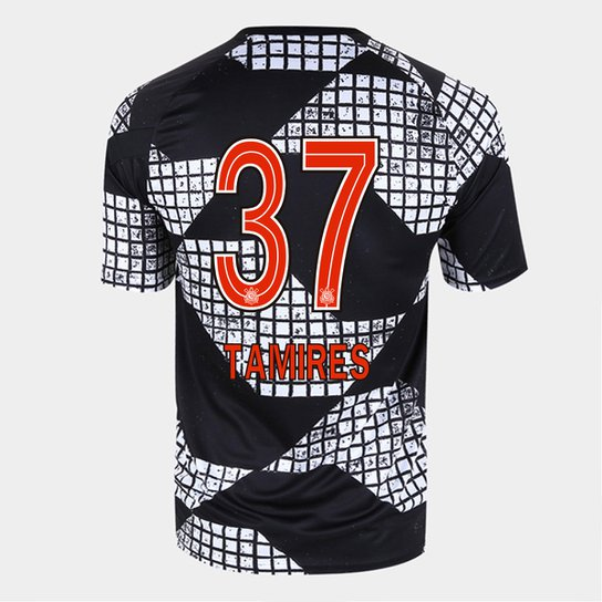 Camisa Corinthians IV 20/21 Tamires N° 37  Nike Masculina - Preto+Branco