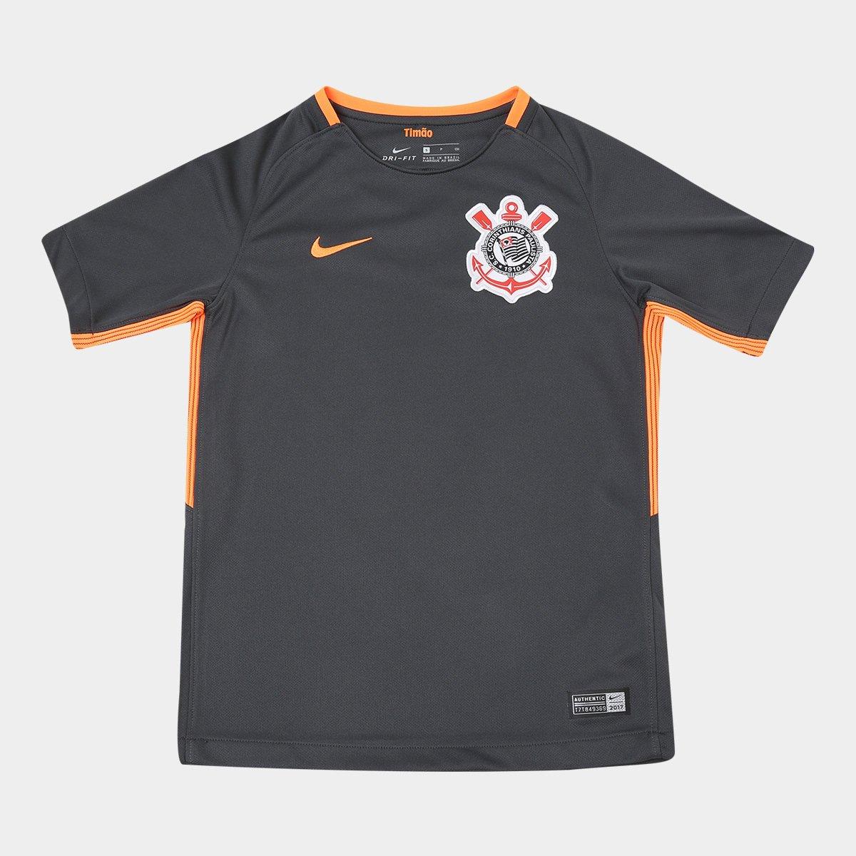 81e9a667f0 Camisa Corinthians Juvenil III 17 18 s n° - Torcedor Nike - Compre ...