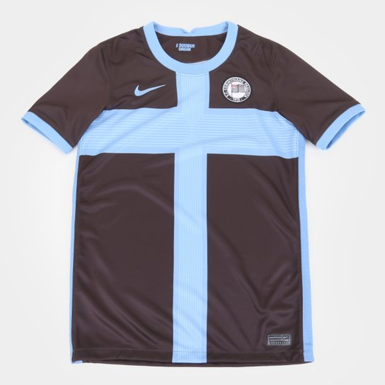 Camisa Corinthians Juvenil III 20/21 s/n° Torcedor Nike - Marrom+Azul
