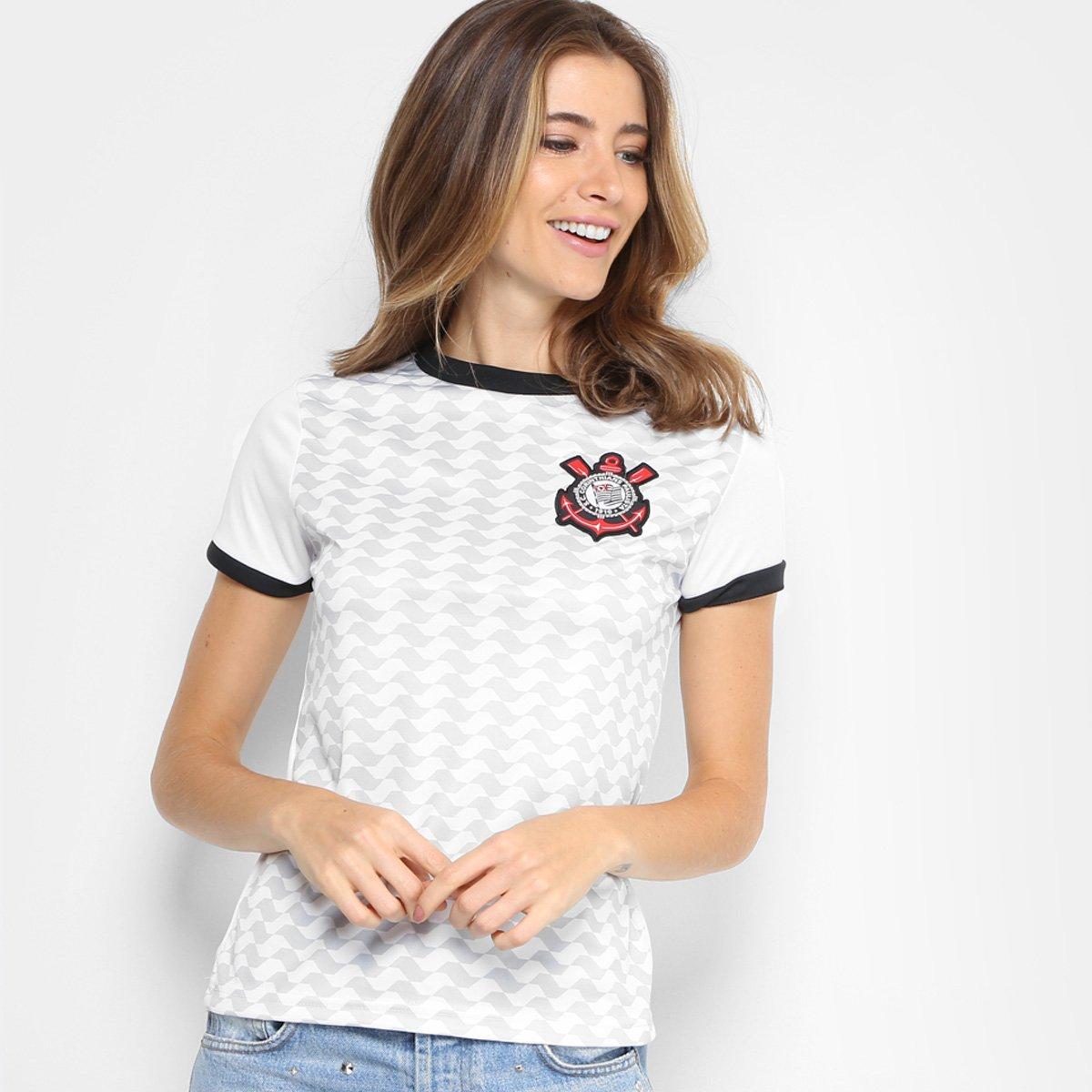 1e40388c13 Camisa Corinthians Libertados C  Patch Feminina - Branco - Compre ...