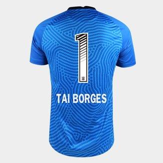 Camisa de Goleiro Corinthians 20/21  Tai Borges N° 1 Torcedor Nike Masculina