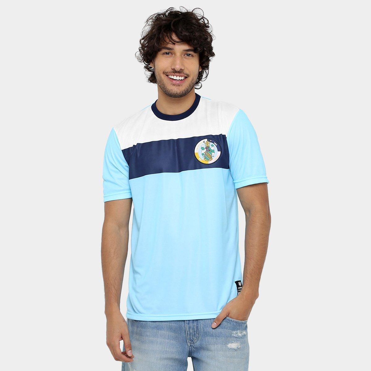 Camisa de Treino Corinthian-Casuals Masculina - Branco e Azul ... 67979e49c9f4c