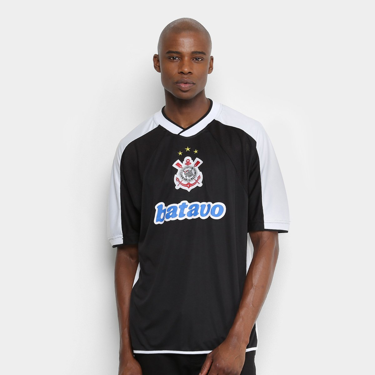 Camisa Do Corinthians Mundial Snº 2000 Masculina Preto