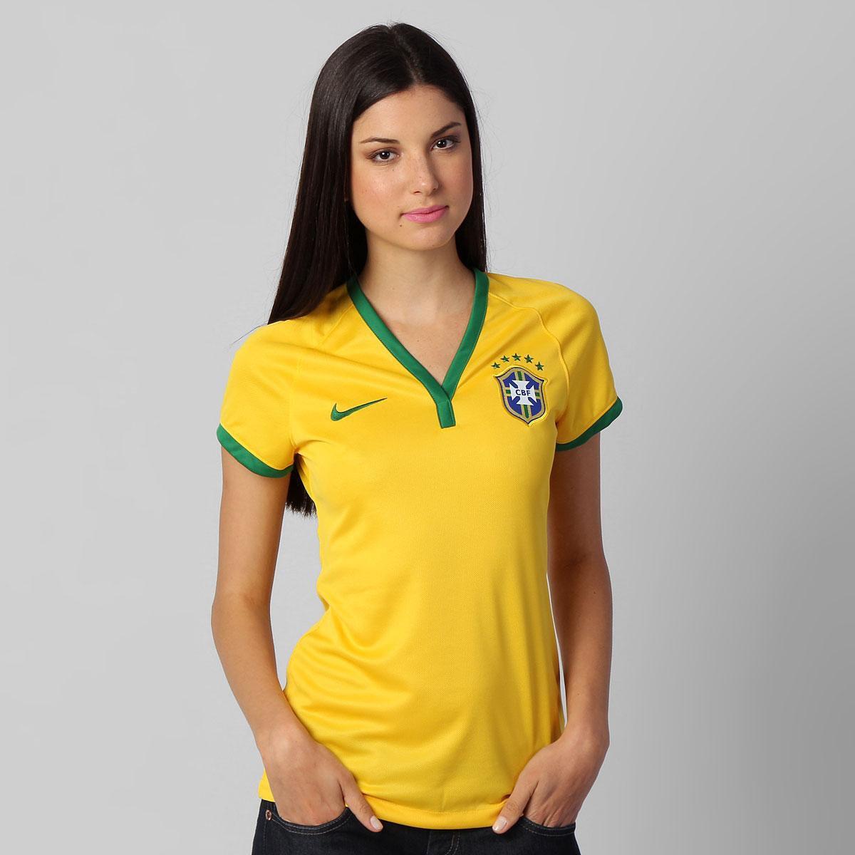83a02112e Camisa Feminina Nike Seleção Brasil I 2014 s nº - Compre Agora ...