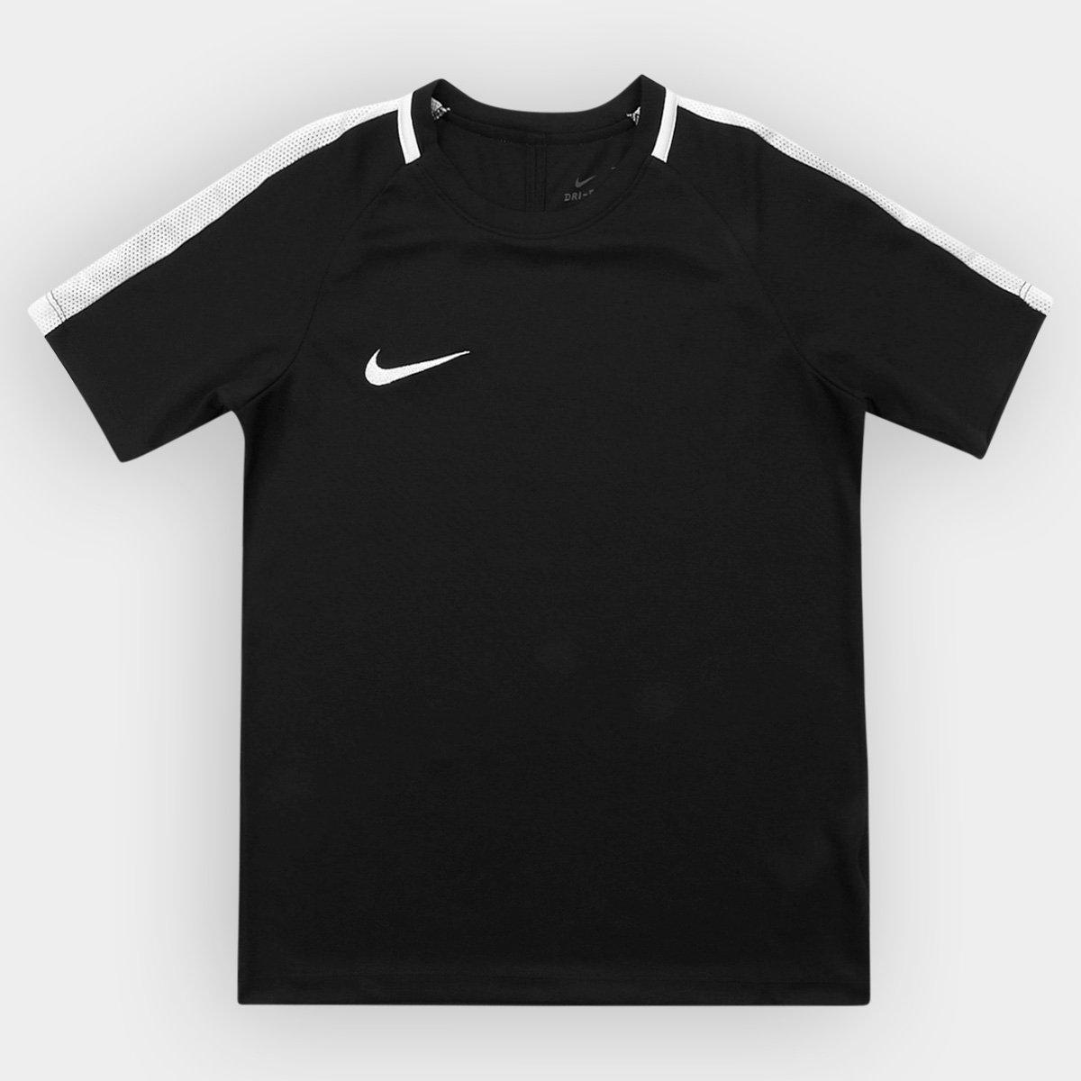 b2f138152c487 Camisa Infantil Nike Dry Academy SS - Preto e Branco - Compre Agora ...