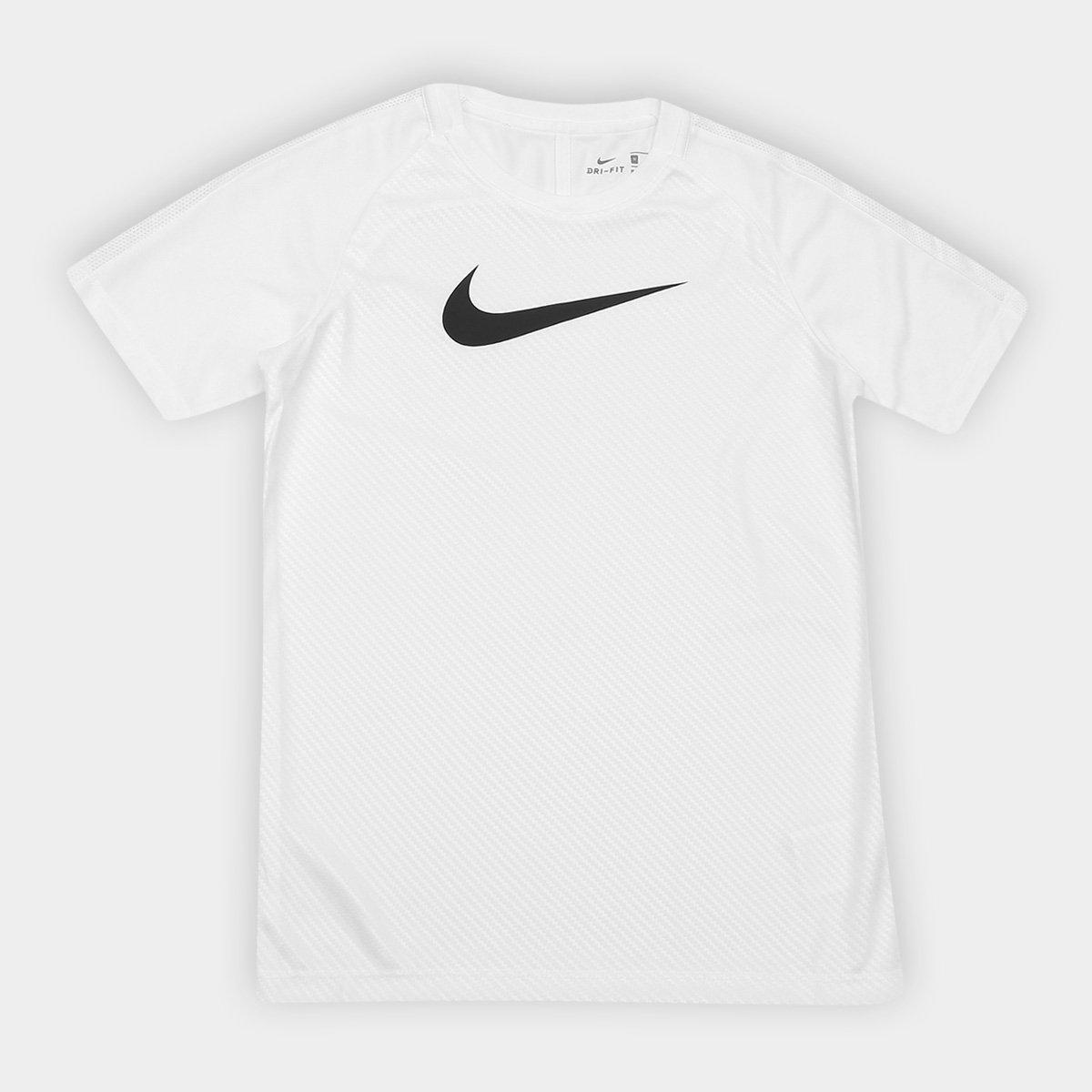 12ccbdccfa Camisa Infantil Nike Dry Academy Top SS GX2 Nike - Branco e Preto ...