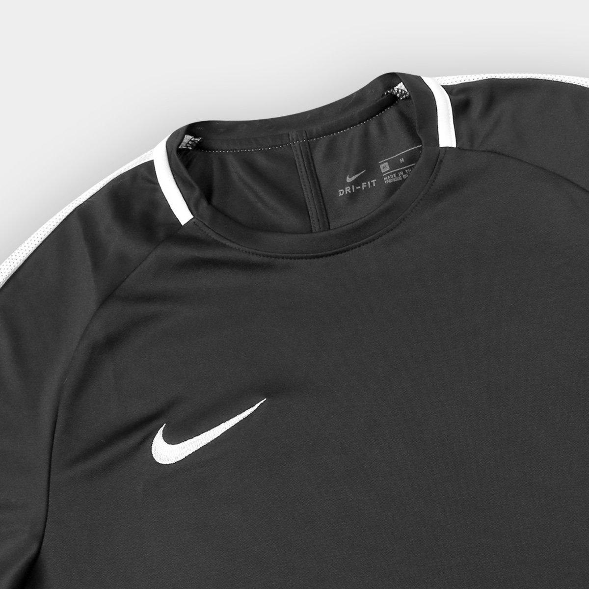 Camisa Nike Academy Masculina - Preto e Branco - Compre Agora  21b1f8855bafc