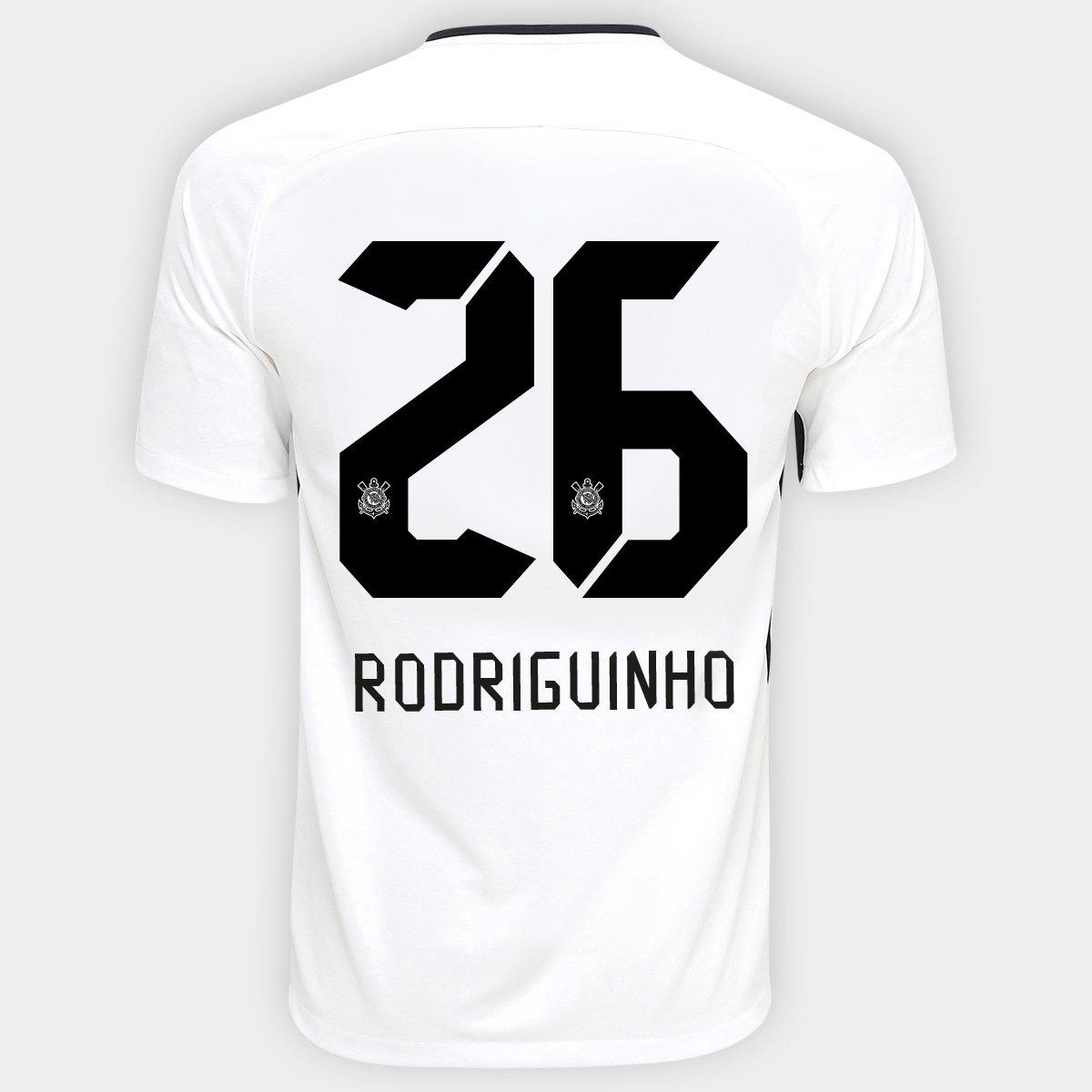 3bbff123c6 Camisa Nike Corinthians I 17 18 nº 26 - Rodriguinho - Compre Agora ...