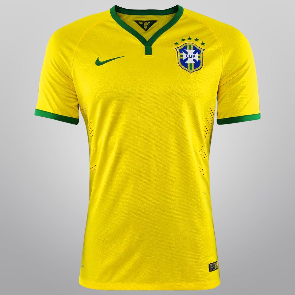 675477390a Camisa Nike Seleção Brasil I 14 15 s nº - Jogador