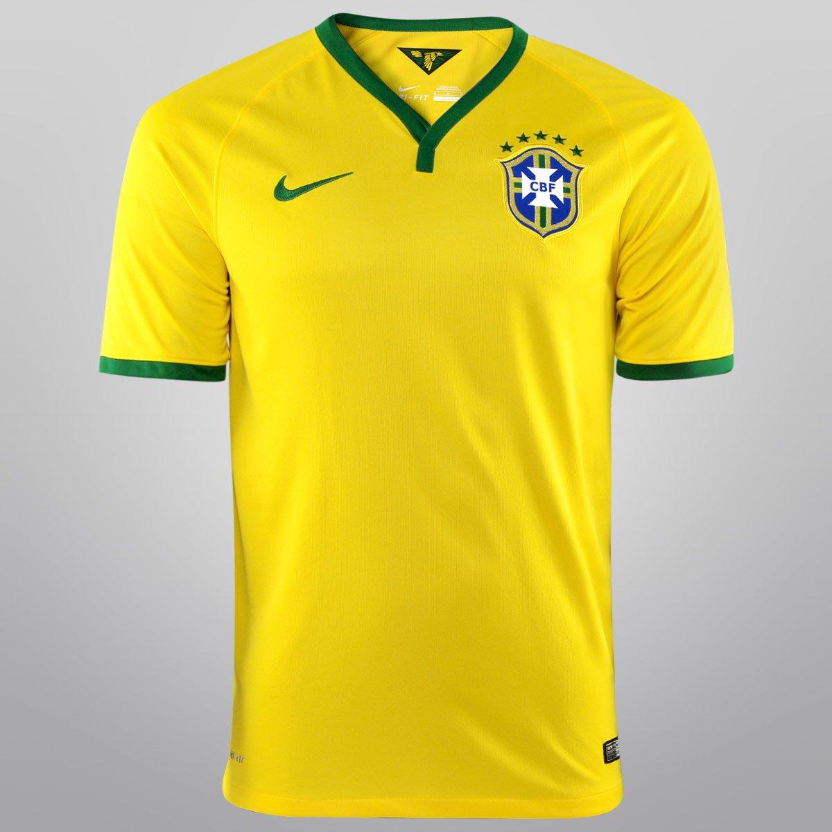 f6d24993a0 Camisa Nike Seleção Brasil I 14 15 s nº - Torcedor - Compre Agora ...