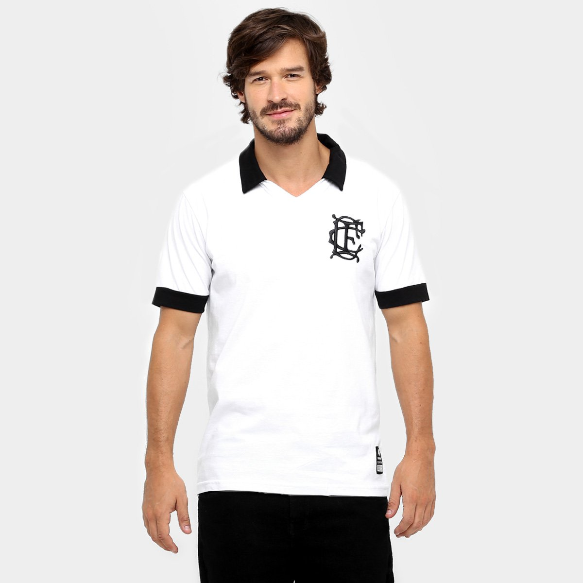 c12db503a7 Camisa Polo Corinthian-Casuals Retrô Masculina - Branco - Compre ...