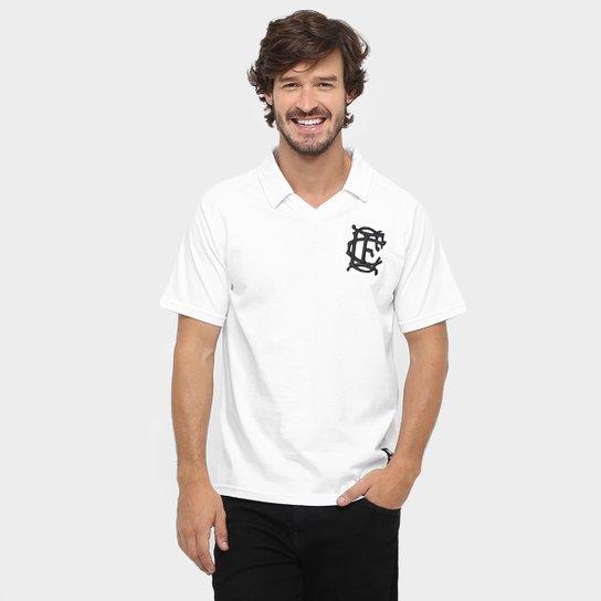 Camisa Polo Corinthian Casuals Retrô Masculina - Branco