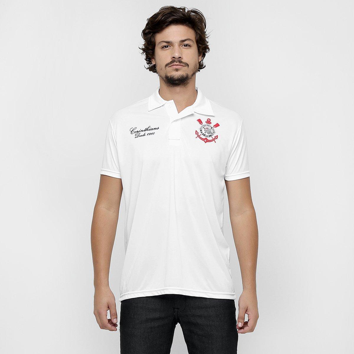 Camisa Polo Corinthians Basic Masculina - Compre Agora  c1d33ef4632