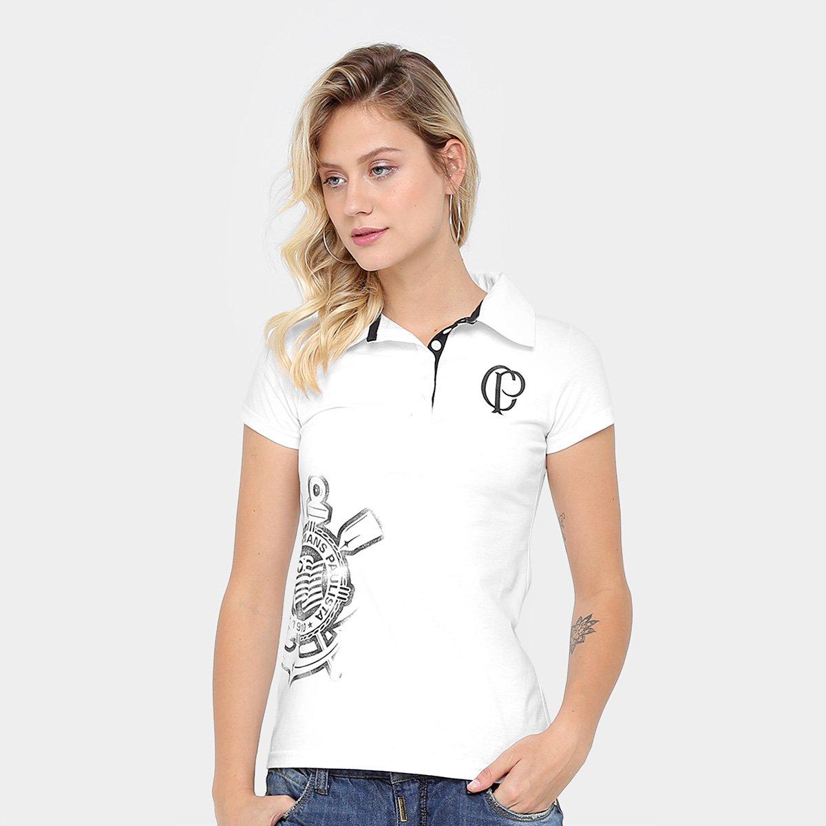 Camisa Polo Corinthians Feminina - Compre Agora  caabc5e6ca7e0