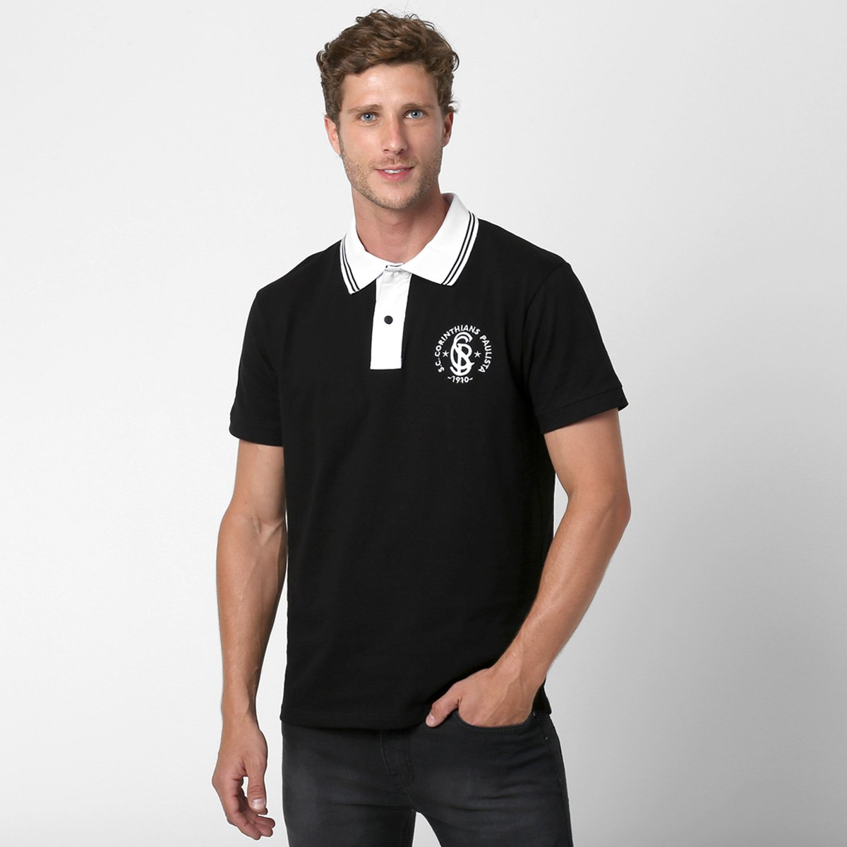 5d1cd86273543 Camisa Polo Corinthians Glórias Masculina - Compre Agora