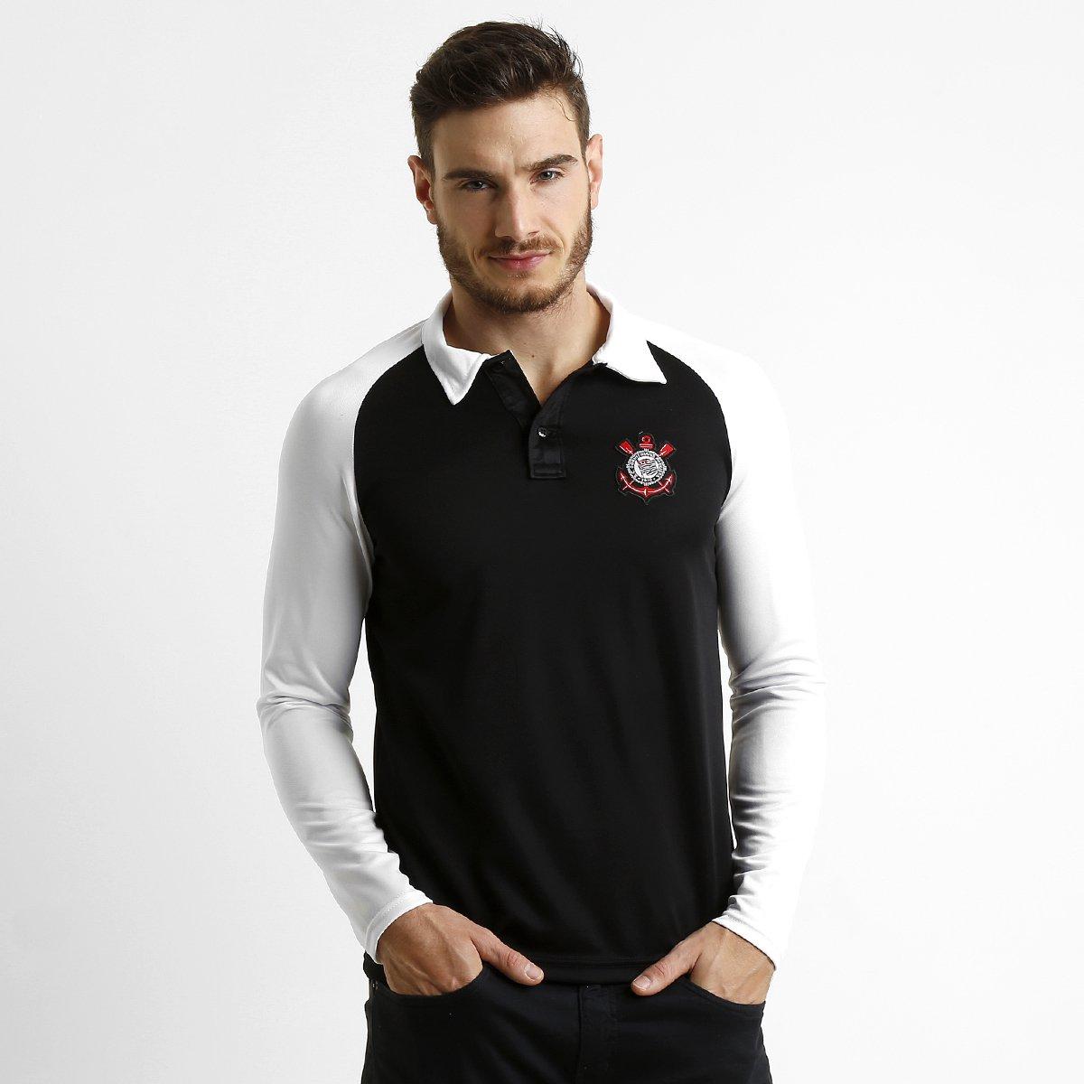 e5d6bed48fa0f Camisa Polo Corinthians M L Raglan - Compre Agora