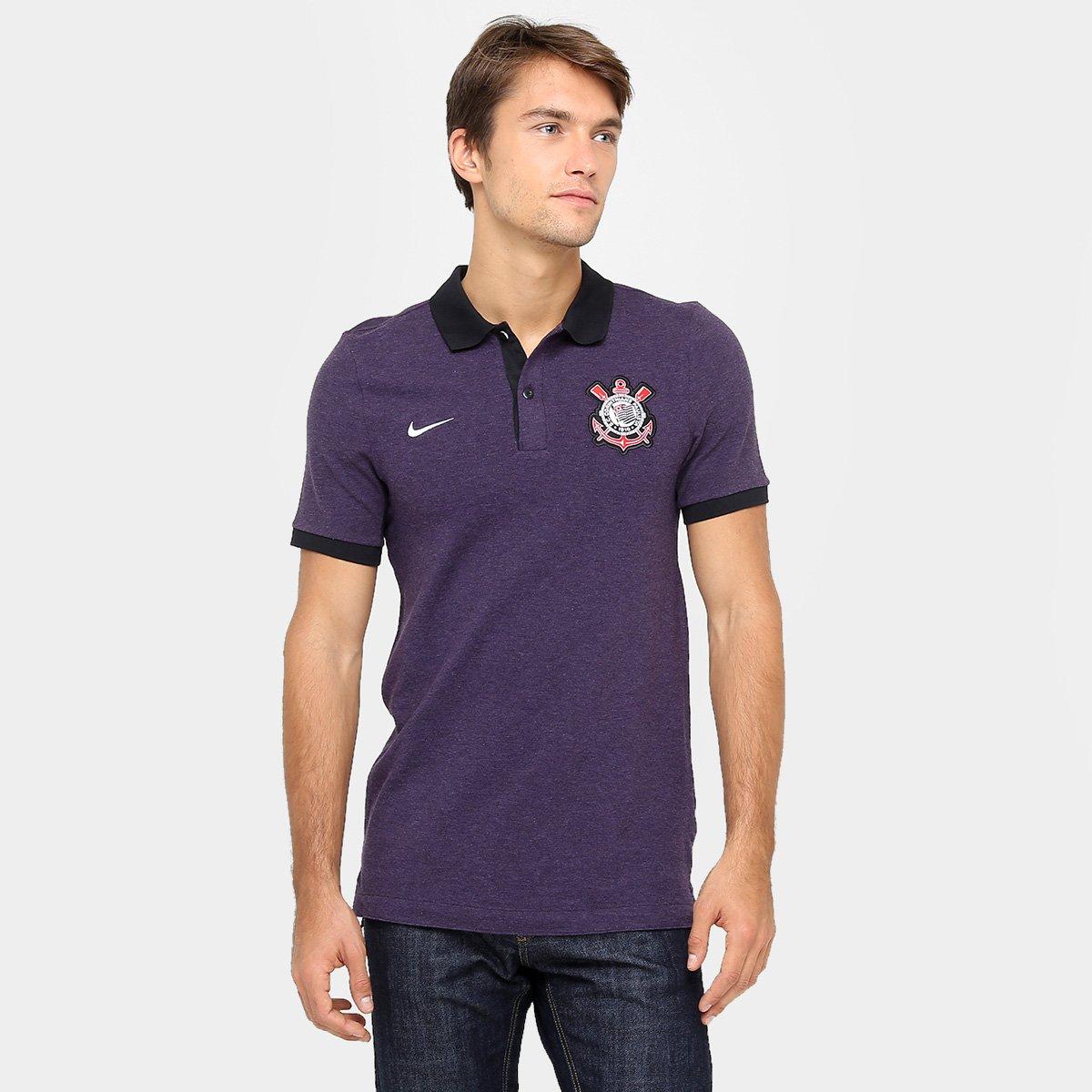 Camisa Polo Corinthians Nike Masculina - Compre Agora  9c213a89638b8