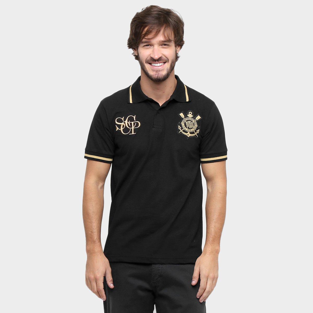 21c9c252458a7 Camisa Polo Corinthians Ouro Masculina - Compre Agora