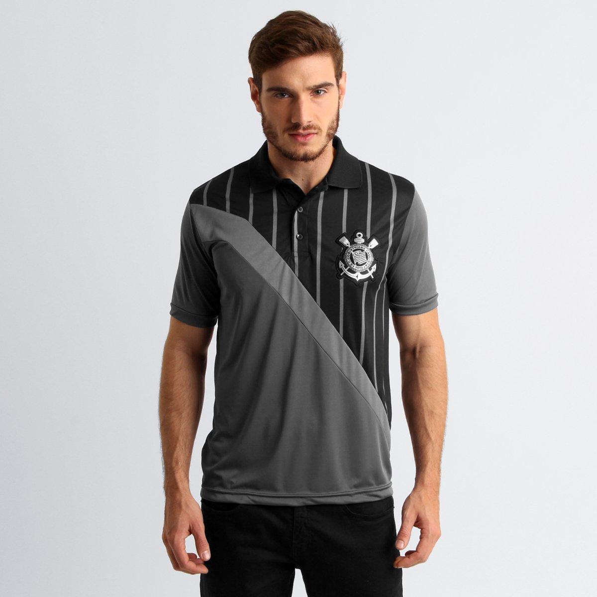 0b5e61d20363d Camisa Polo Corinthians Porthos Masculina - Compre Agora