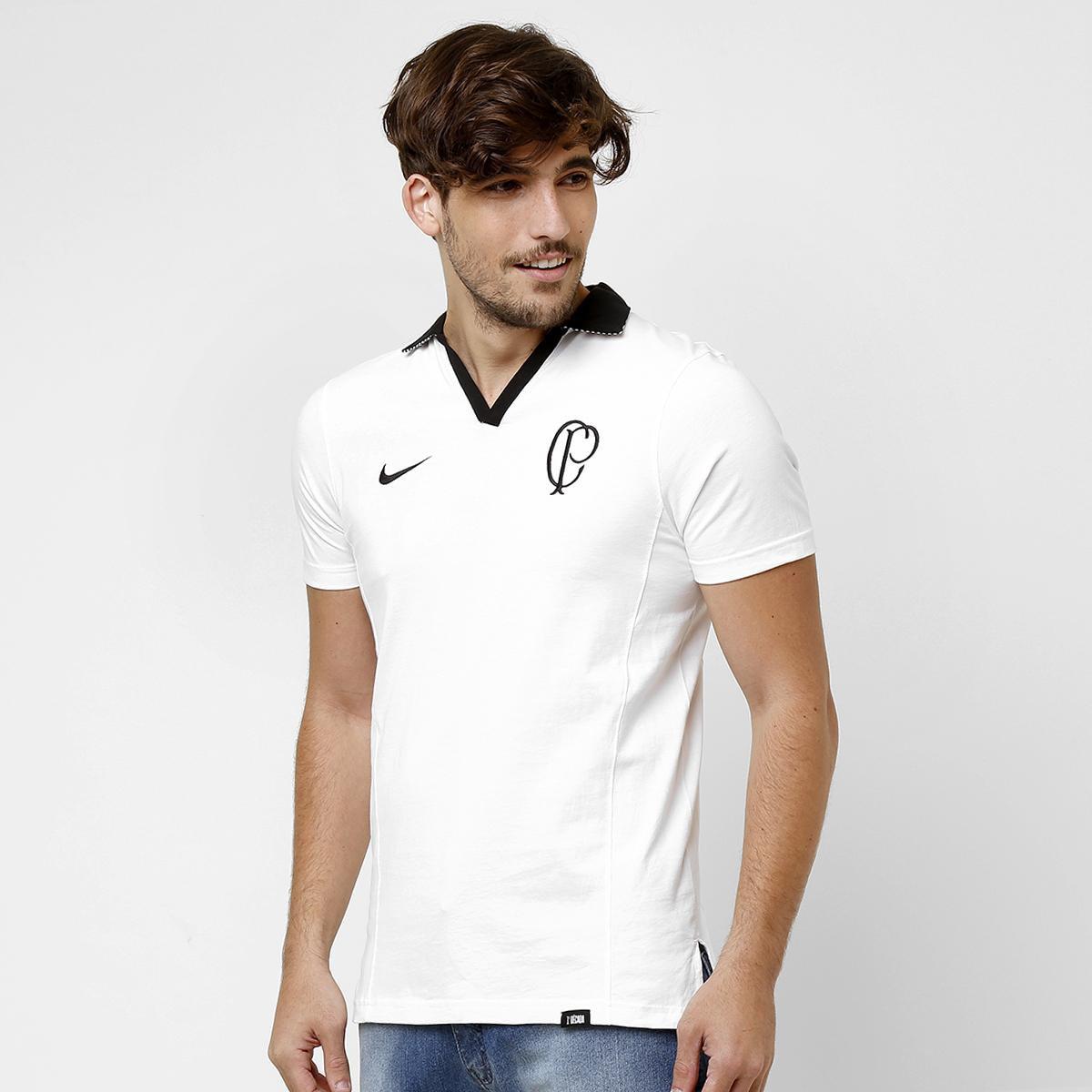 Camisa Polo Nike Corinthians Life Style - Compre Agora  6671b723a689d