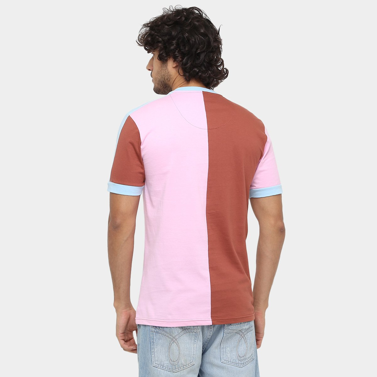 Camisa Retrô Corinthian-Casuals 39 Masculina - Rosa e Marrom ... 994470108183c