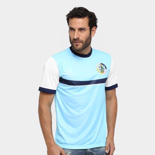 Camisa Retrô Corinthian Casuals Masculina - Branco+Azul