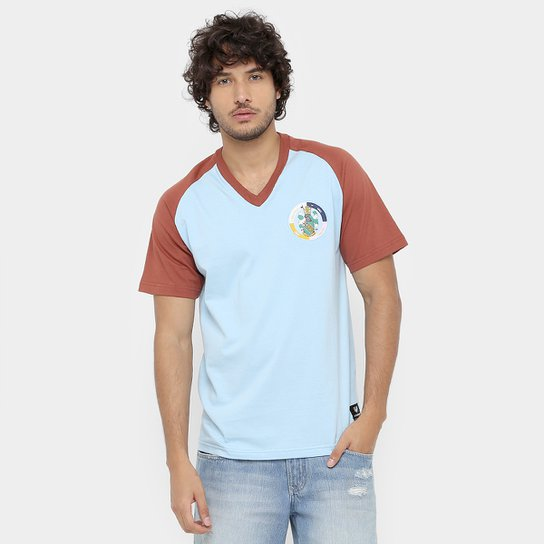 Camisa Retrô Corinthian-Casuals Masculina - Marrom+Azul
