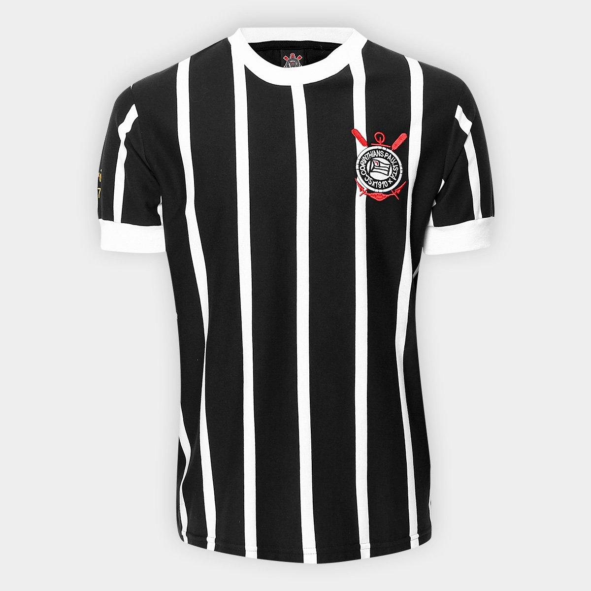 Camisa Retrô Corinthians Réplica 1977 Masculina - Compre Agora ... 84a598589f54e