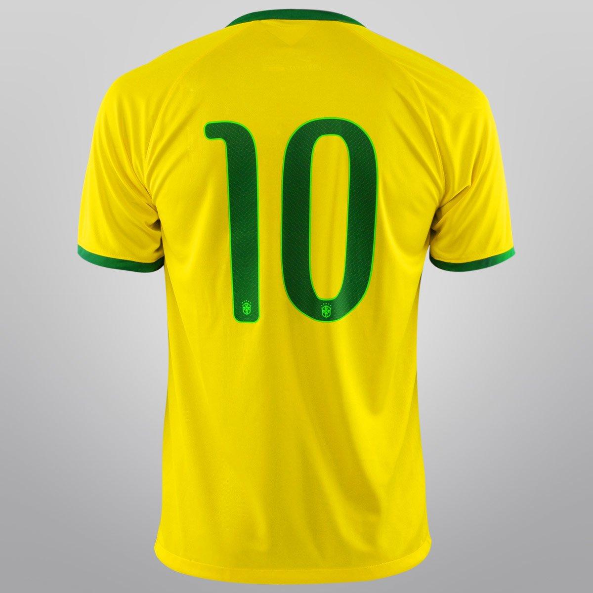 8fbcddf3cf1a1 Camisa Seleção Brasil I 14 15 nº 10 - Torcedor Nike Masculina - Compre  Agora