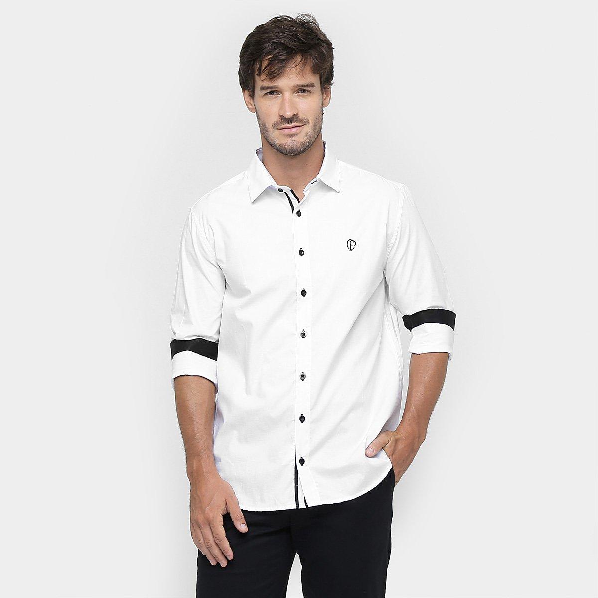 Camisa Social Corinthians CP Manga Longa Masculina - Compre Agora ... 76fc4b878c0