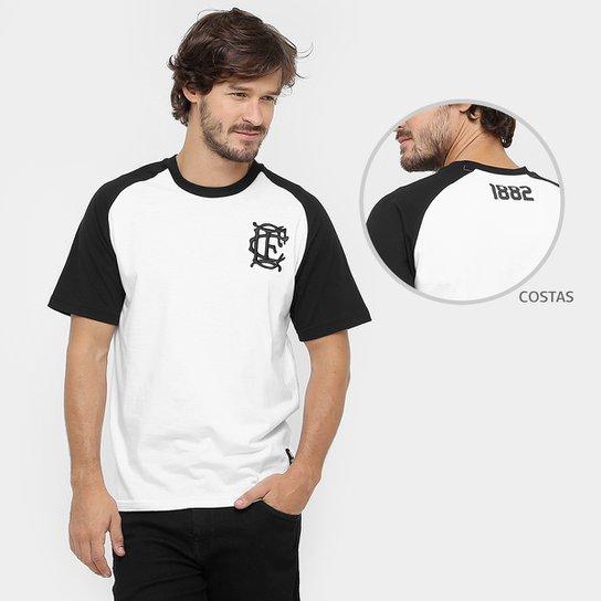 Camiseta Corinthian-Casuals Retrô 1882 Masculina - Branco+Preto