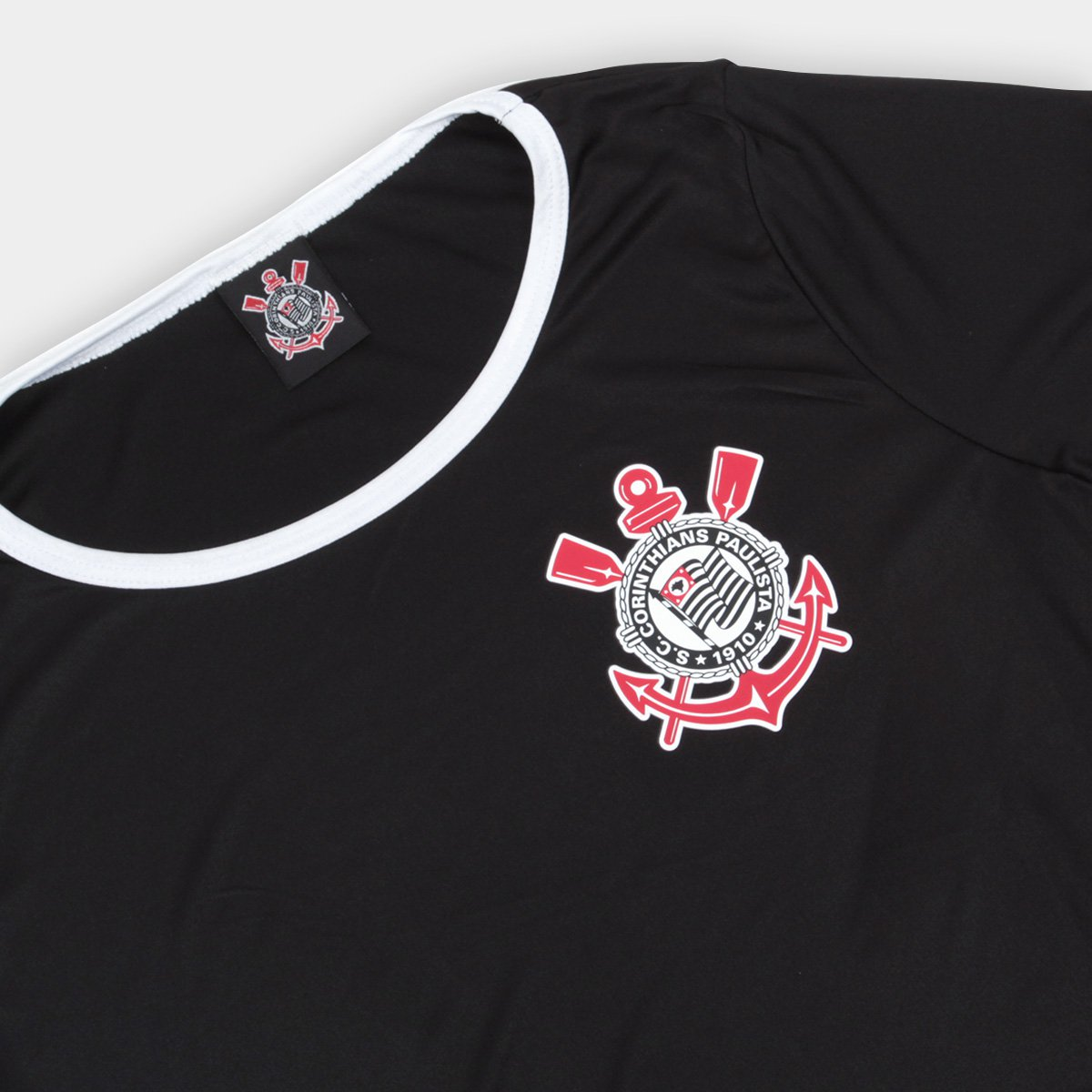 Camiseta Corinthians Basic Feminina - Compre Agora  f877ae458607b