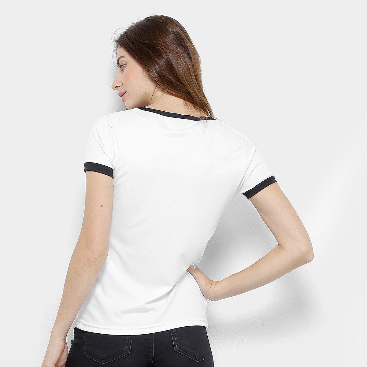 Camiseta Corinthians Basic Feminina  Camiseta Corinthians Basic Feminina ... 8b44718a2a51b