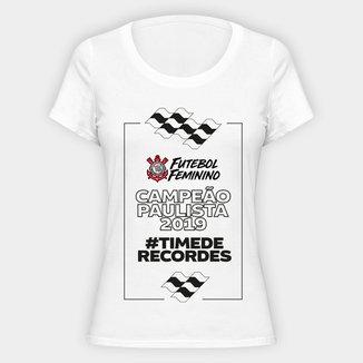 Camiseta Corinthians - Campeão Paulista 2019 Futebol Feminino - Feminina