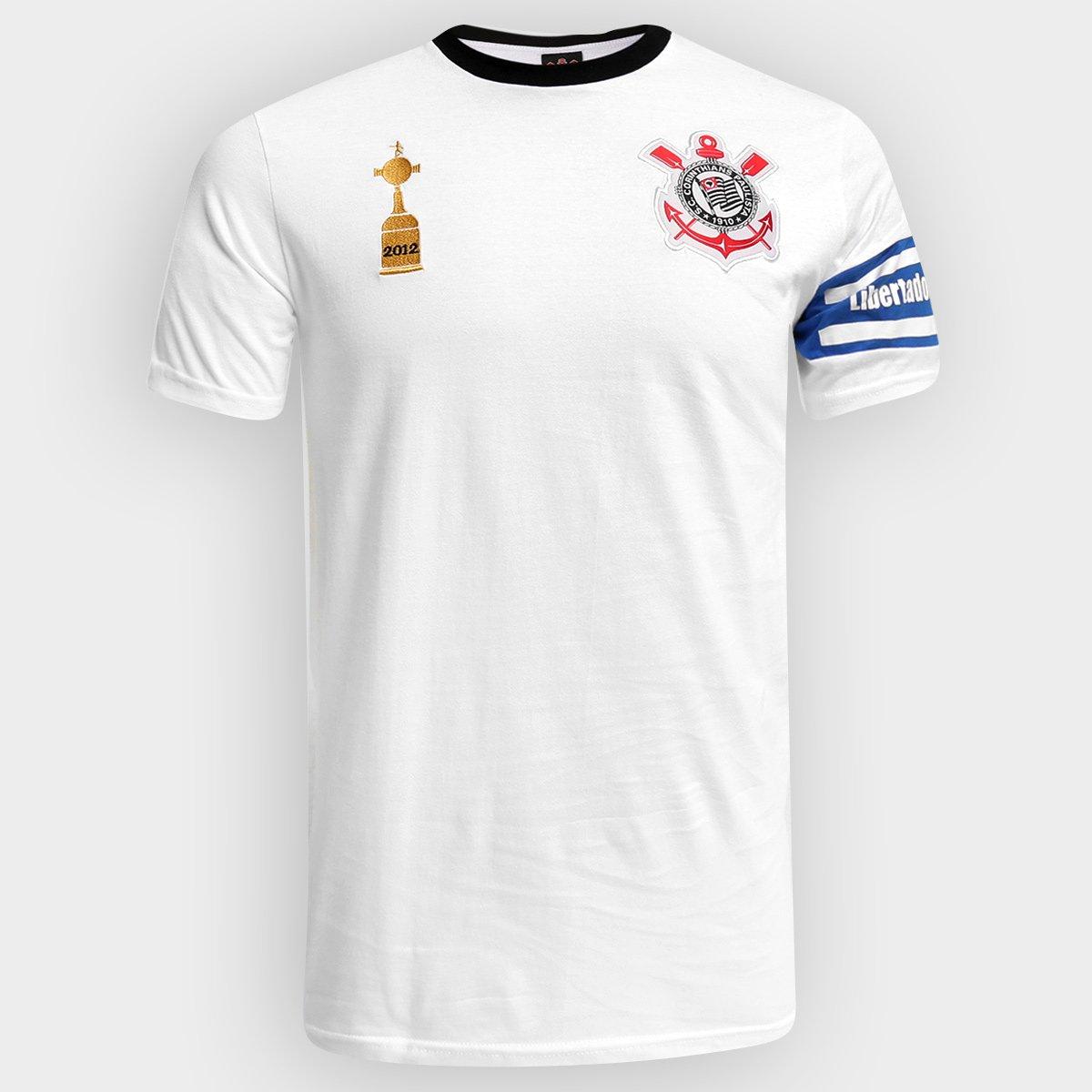 fe34b5f51d Camiseta Corinthians Capitães Libertadores 2012 n° 2 Masculina - Branco