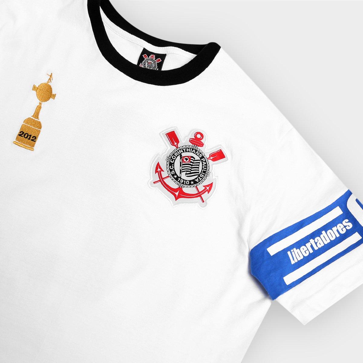 ... Camiseta Corinthians Capitães Libertadores 2012 n° 2 Masculina ... 709a94ada8501