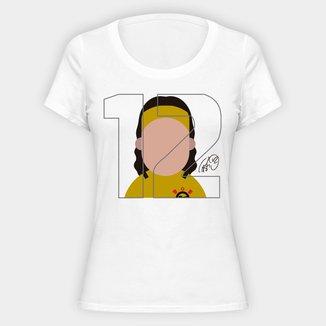 Camiseta Corinthians Cássio 12 Feminina