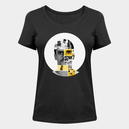 Camiseta Corinthians Fagner Feminina - Preto