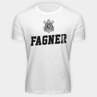 Camiseta Corinthians Fagner Logo Masculina