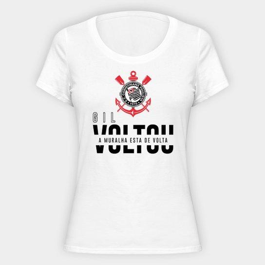 Camiseta Corinthians Gil II Feminina - Branco