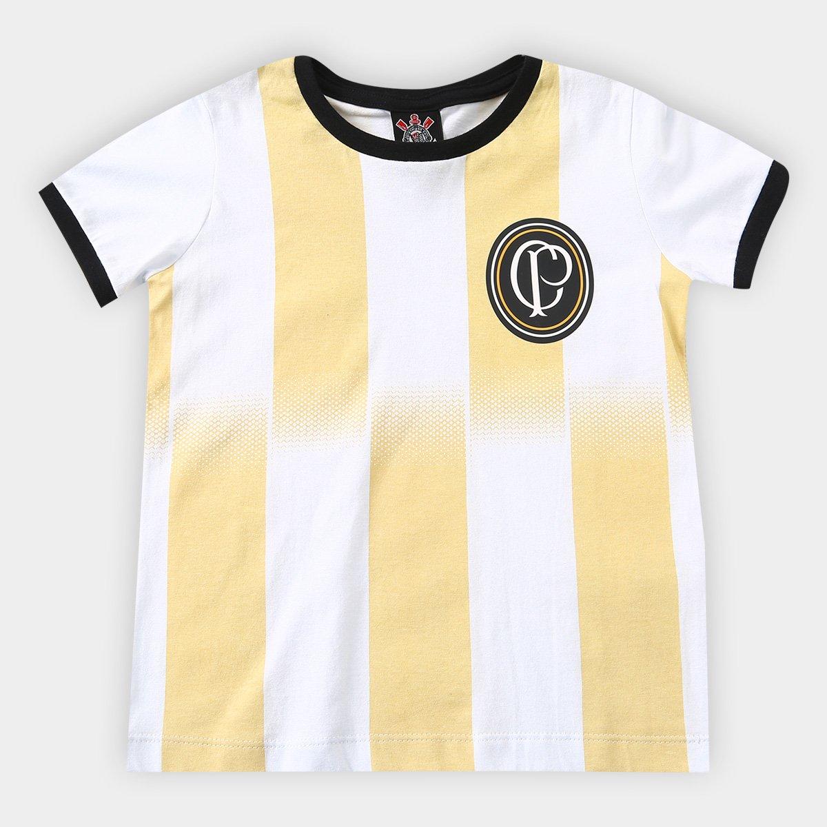 f6e3cd66cb Camiseta Corinthians Infantil Centenário - Branco - Compre Agora ...