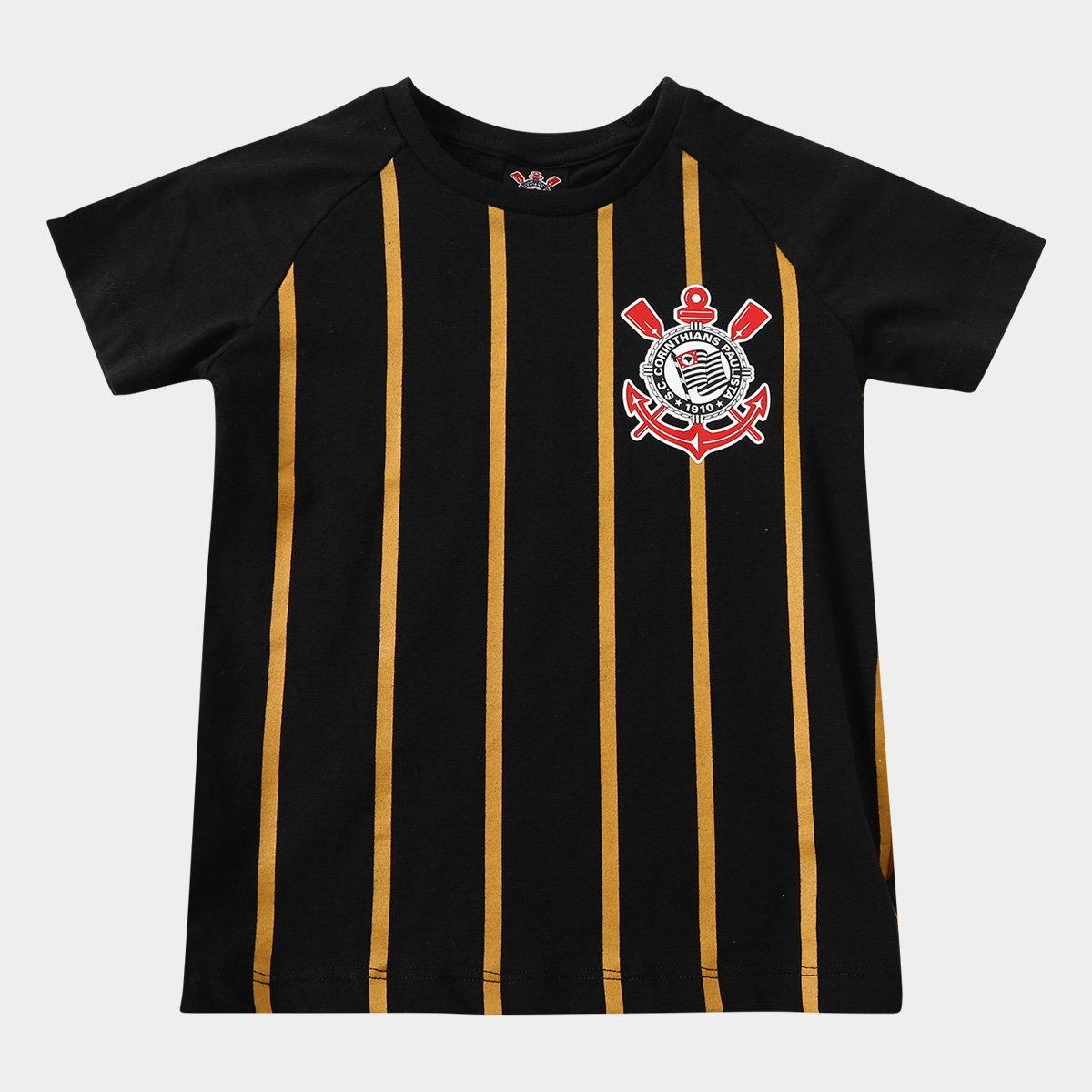 bd604b7afc Camiseta Corinthians Infantil Gold - Preto - Compre Agora